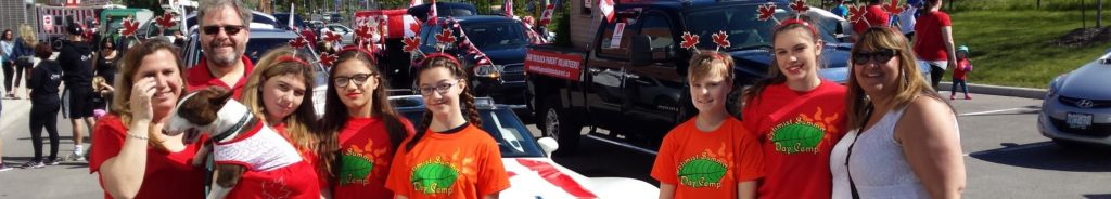 promoting summer day camp at parade